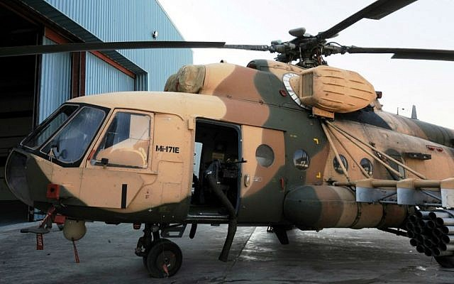 An Iraqi Mi-17 helicopter. (photo credit: US Air Force/Tech. Sgt. Randy Redman)