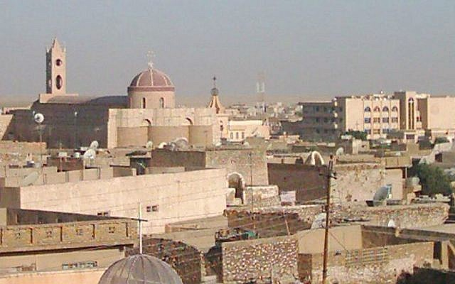 The northern Iraqi town of Qaraqosh before the ISIS invasion. (photo credit: Wikicommons media/Chaldean)