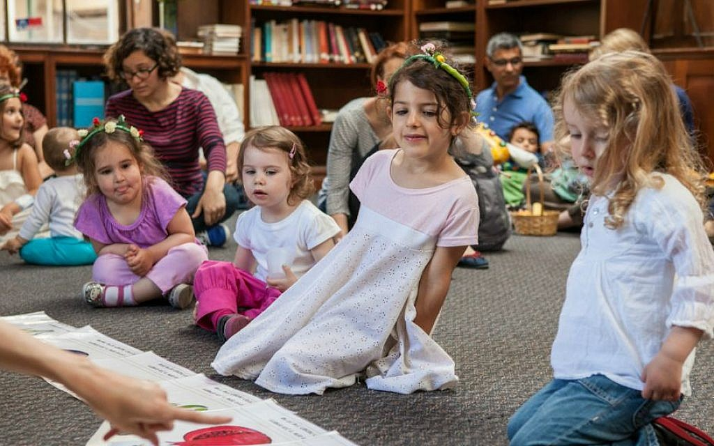 New York's KesheTOT Hebrew-language program is no drop-off activity. Parents are expected to remain and participate. (Courtesy KesheTOT)