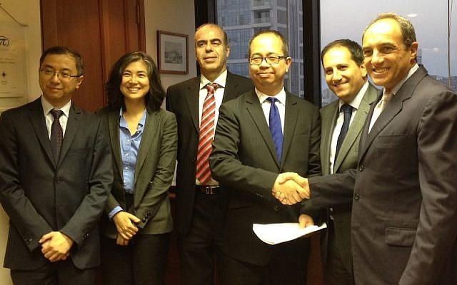 (L. to R.) : John Chan, Managing Partner of Catalyst CEL Fund; Shengyan Fan, Managing Partner of Catalyst CEL Fund; Boaz Harel, Managing Partner of Catalyst CEL Fund; Richard Tang, Managing Partner of Catalyst CEL Fund& CFO of CEL; Alain Dobkin, Managing Partner of Catalyst CEL Fund; Edouard Cukierman, Managing Partner of Catalyst CEL Fund (Photo credit: Courtesy)
