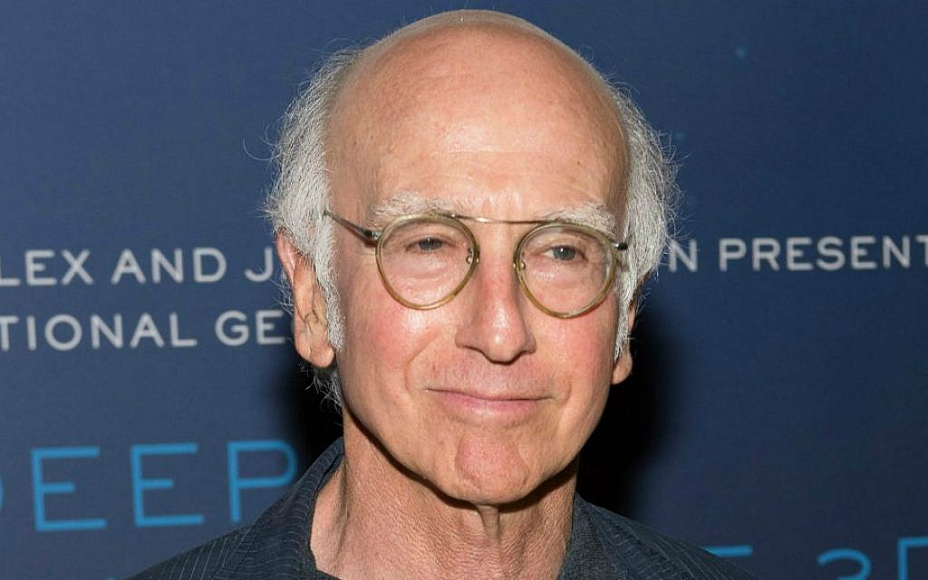 Larry David in August 2014. (Dave Kotinsky/Getty Images via JTA)