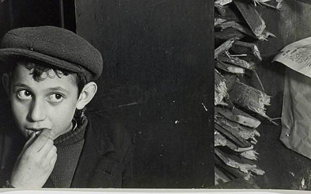 Detail from Roman Vishniac image from pre-Holocaust Poland. (screenshot http://vishniac.icp.org/)