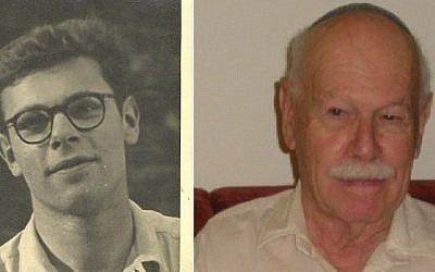 Naftali Wertheim in London at age 16 and in Israel at age 84 (photo credit: Courtesy/ Dalia Yohanan)