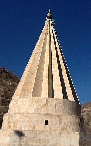A Yazidi temple in the holy city of Lalish (photo credit: Lazar Berman/Times of Israel)