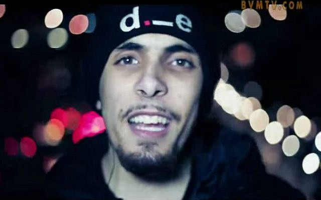 London rapper Abdel-Majed Abdel Bary, reportedly a key suspect in the beheading of US journalist James Foley (screen capture: YouTube/BVMUndergroundHipHop)
