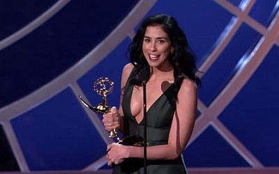Comedienne Sarah Silverman received an Emmy for her HBO comedy special 'Sarah Silverman: We are Miracles.' (photo credit: YouTube screen capture)