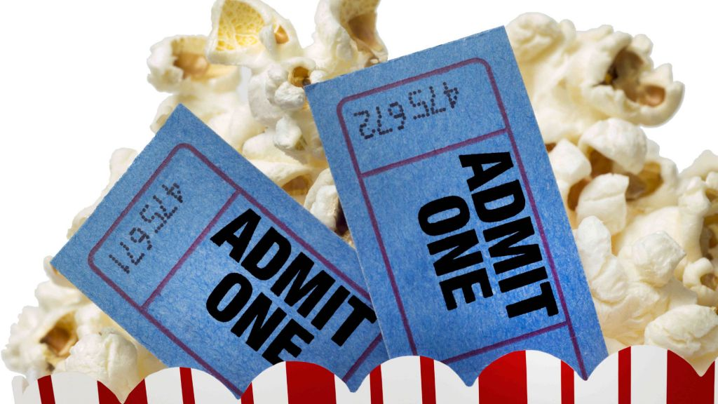 movie and popcorn via shutterstock