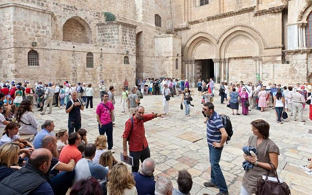 Tour group in Israel  via Shutterstock.