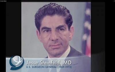 Surgeon General Jesse Steinfeld (screen capture: YouTube)