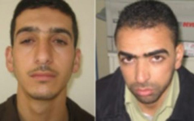 Marwan Kawasme (left) and Amer Abu Aysha (right), suspected by Israel of kidnapping and killing three Israeli teens. (photo credit: Courtesy)