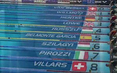 LEN European Short Course Swimming Championships Herning, Denmark, 2013. (screen capture: YouTube/beni lope)
