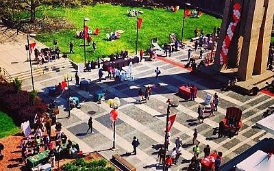 The campus of Temple University in Philadelphia. (photo credit: Temple University Facebook page)