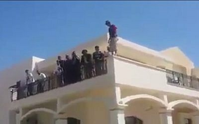 The US embassy in Tripoli is taken over by Islamists (photo credit: Youtube screenshot)