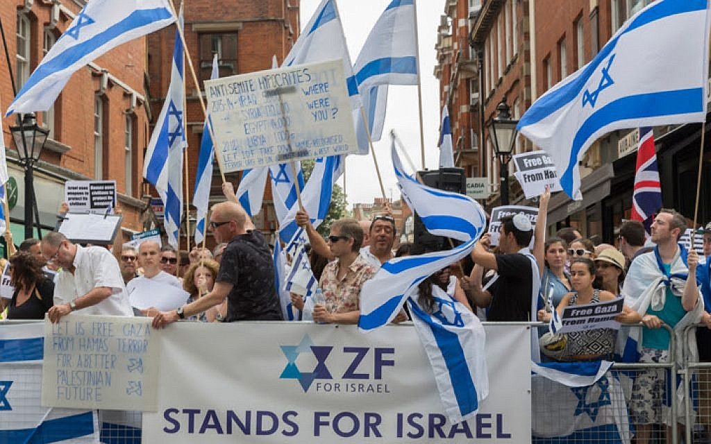 London's July 20 pro-Israel rally. (photo credit: SteveWinstonphotos.com)
