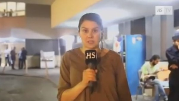 A television reporter from the Finnish Helsingin Sanomat confirms that Hamas has been firing rockets out of the Al-Shifa Hospital (Photo credit: Youtube screen capture)