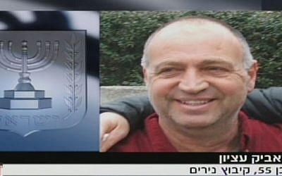 Kibbutz Nirim security chief Ze'ev Etzion (screen capture: Channel 2)
