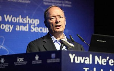 General Keith Alexander speaks at Tel Aviv University's Cyber Research Center (Photo credit: Courtesy)