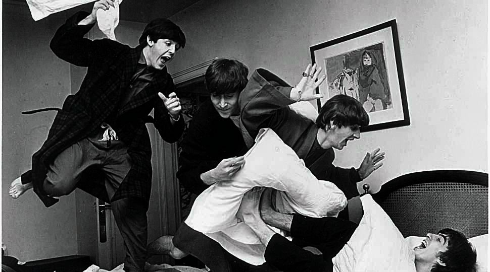 The Beatles From Left Paul McCartney John Lennon Ringo Starr And