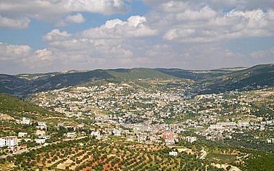 Ajloun and the surrounding area. (photo credit: CC ASA 3.0/Wikimedia/Daniel Case)