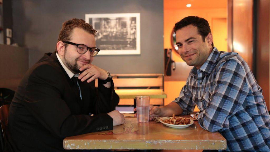 Canadian YidLife Crisis YouTube series creators Eli Batalion (left) and Jamie Elman (Darren Curtis)