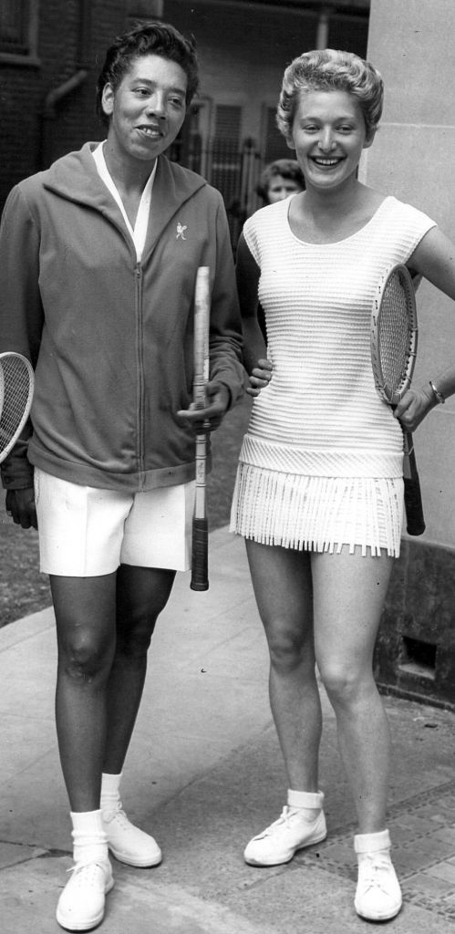 Doubles partners Althea Gibson and Angela Buxton in 1956 (courtesy)