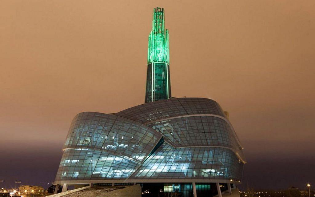 The $351 million Canadian Museum of Human Rights in Winnipeg. (Flickr/JTA)