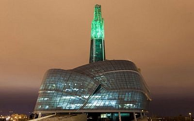 The $351 million Canadian Museum of Human Rights in Winnipeg. (Flickr/JTA)