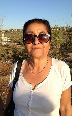 Ariel resident Yael Sip photo credit: Elhanan Miller/Times of Israel)