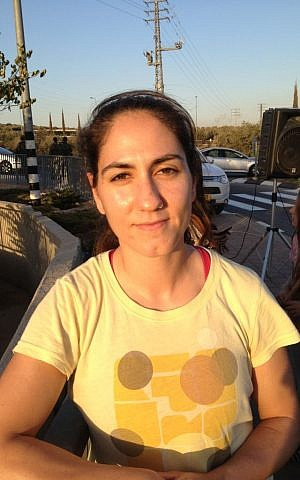 Ariel student Hilla Nacson photo credit: Elhanan Miller/Times of Israel)