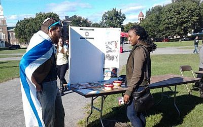 Illustrative: Hillel activists at the Dartmouth campus in September 2014. (courtesy)