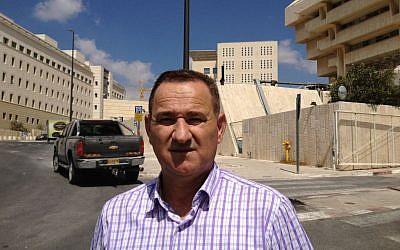 Kafr Bara mayor Muhammad Aasi, Jerusalem, September 21, 2014 photo credit: Elhanan Miller/Times of Israel)