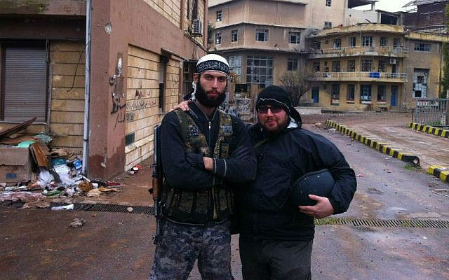 Journalist Steven Sotloff (right) in Syria, 2012 (photo credit: Facebook/Oren Kessler)