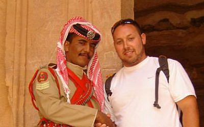 Journalist Steve Sotloff in Jordan, 2009. (photo credit: Facebook/Oren Kessler)