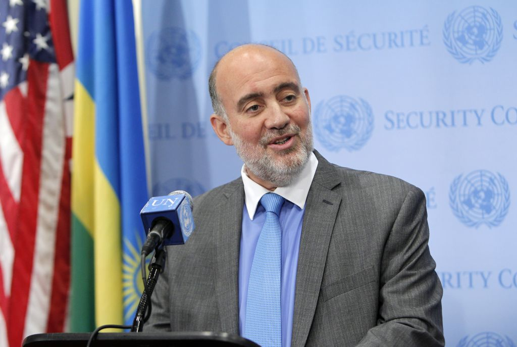 Israeli Ambassador Ron Prosor. 'Will you stand with those who fire rockets, kidnap girls out of classrooms, and cut off the heads of journalists?' he asked at a Global Anti-Semitism conference in the UN this week. (courtesy)
