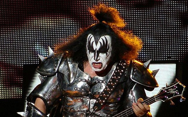 Gene Simmons performing with KISS in 2010. (photo credit: CC BY-Wikipedia)