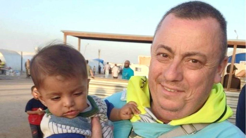 This undated family handout photo shows British man Alan Henning, beheaded by the Islamic State group in a video released on October 3, 2014.  (photo credit: AP/PA Wire)