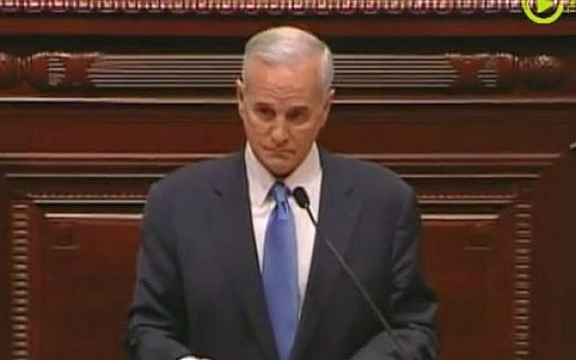 Minnesota Governor Mark Dayton, 2012. (screen capture: YouTube/UpTakeVideo)