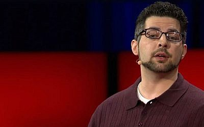 Author and tolerance promoter Zak Ebrahim at a TED conference in 2014. (screen capture: YouTube/TED)