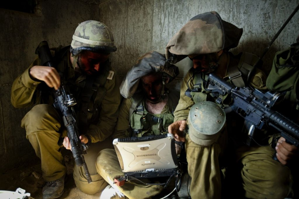 Soldiers from the 8200 Unit in training (photo credit: Moshe Shai/Flash90)