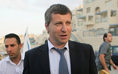 Stas Misezhnikov, then-tourism minister, in Jerusalem, October 21, 2012. (oav Ari Dudkevitch / FLASH90)