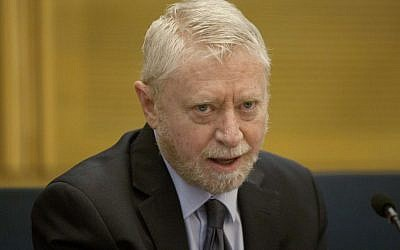 """Israeli State Comptroller Yosef Shapira slammed electoral lists for """"inflating"""" private expenses.  Photo by Flash90"""