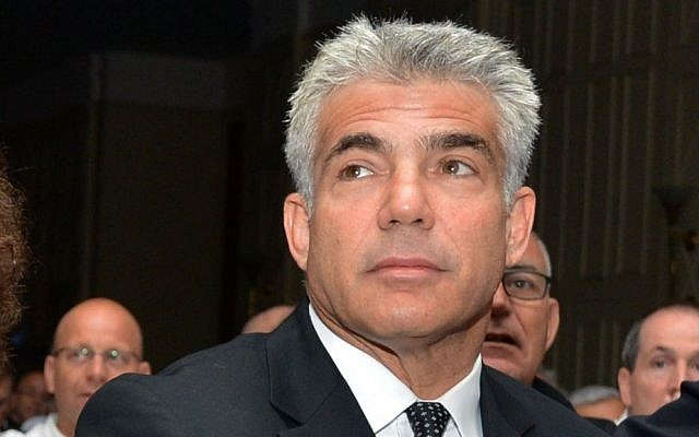 Finance Minister Yair Lapid attends the Calcalist conference in Tel Aviv, Tuesday, September 2, 2014 (photo credit: FLASH90)