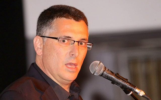 Former minister of interior Gideon Sa'ar holds a press conference on September 17, 2014, announcing he will resign from both the cabinet and the Knesset after the Jewish holidays. (Flash90)