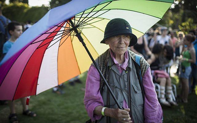 The annual Jerusalem Gay Pride, September 18, 2014 (photo credit: Hadas Parush/Flash90)