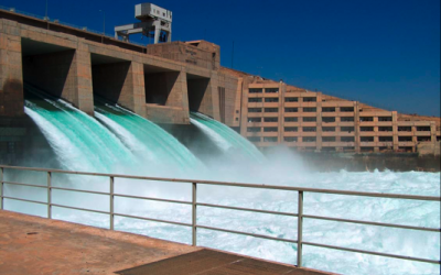 Haditha Dam, a major hydroelectric contributor to the power system in Iraq. (photo credit: Wikimedia/US Army Corps of Engineers)