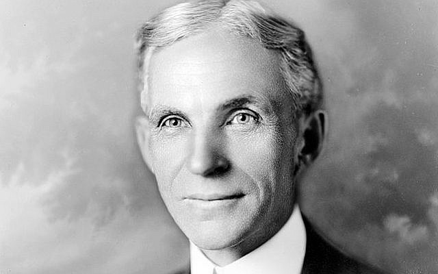 Henry Ford (photo credit: Hartsook, Library of Congress)