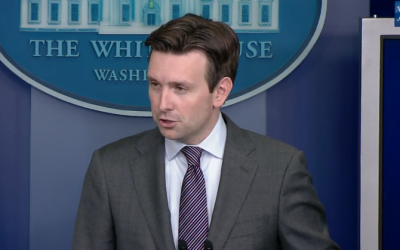 White House spokesman Josh Earnest during a press briefing, September 22, 2014 (screen capture: YouTube/The White House)