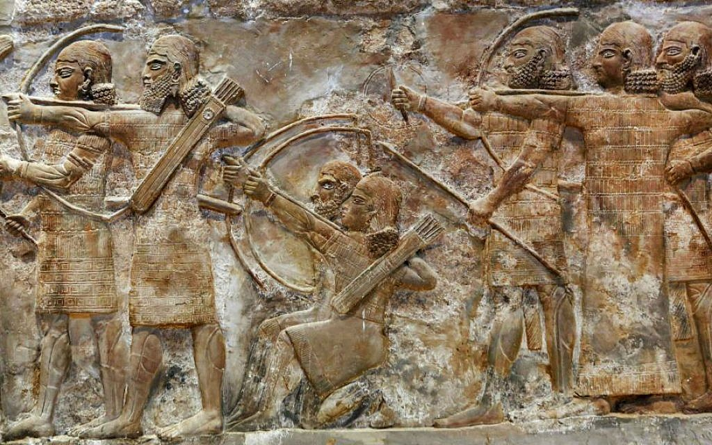 This Monday, September 15, 2014 photo shows bas-relief inscriptions at the Iraqi National Museum in Baghdad. (AP Photo/Hadi Mizban)
