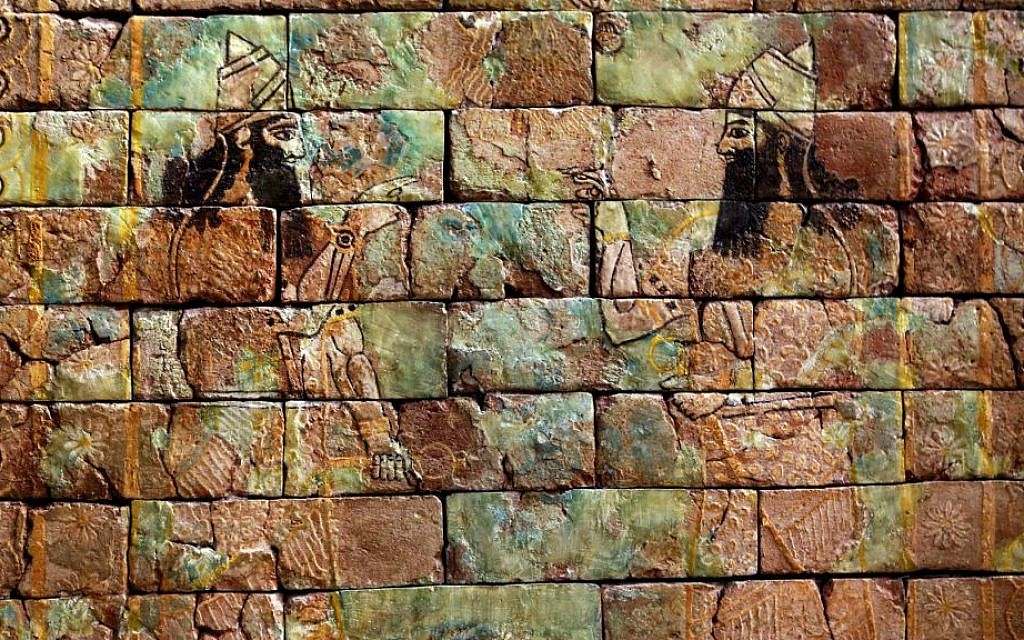 This Monday, Sept. 15, 2014 photo shows glazed bricks displayed at the Iraqi National Museum in Baghdad. (AP Photo/Hadi Mizban)