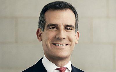 Los Angeles Mayor Eric Garcetti's official portrait. (public domain)